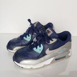 Nike Air Max 90 Metallic/Binary Blue Size #3Y